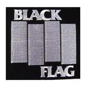 "BLACK FLAG Iron On Sew On Embroidered Punk Patch 3.5""/9cm - A Patch E Store"