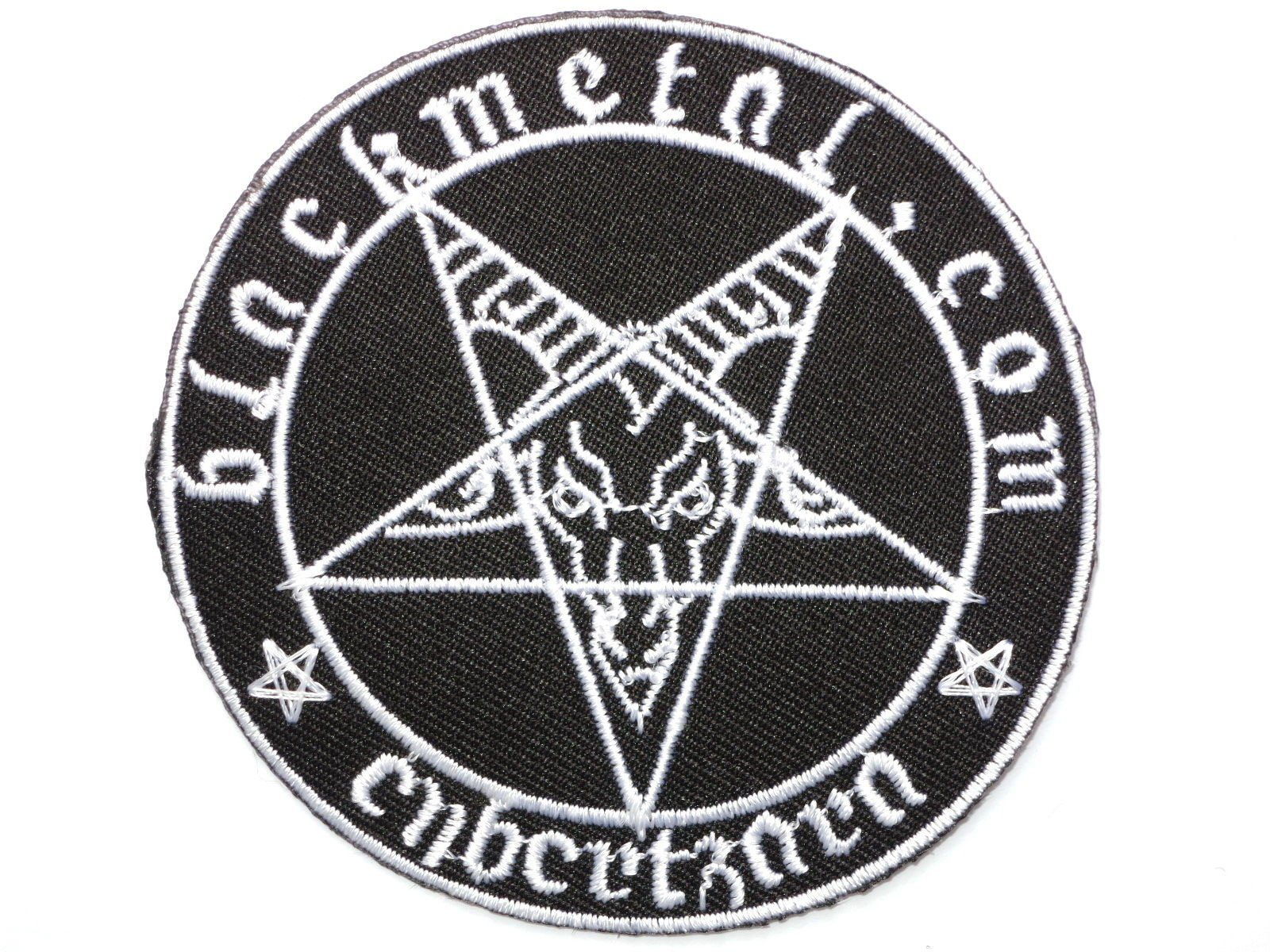 "BLACK METAL Baphomet Iron On Embroidered Patch 3""/7.5cm - A Patch E Store"