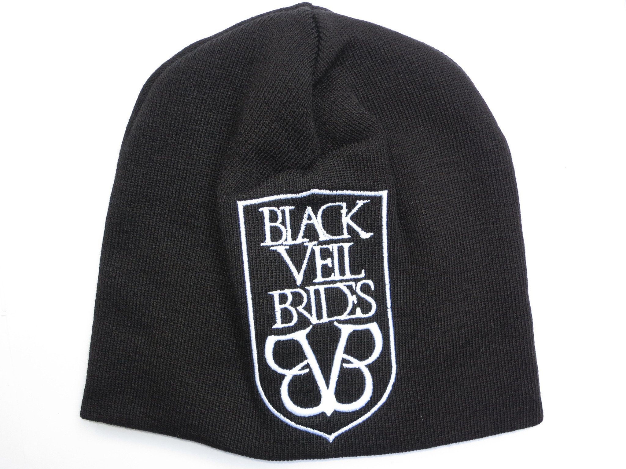BLACK VEIL BRIDES Acrylic Wool Beanie Hat BNWT - A Patch E Store