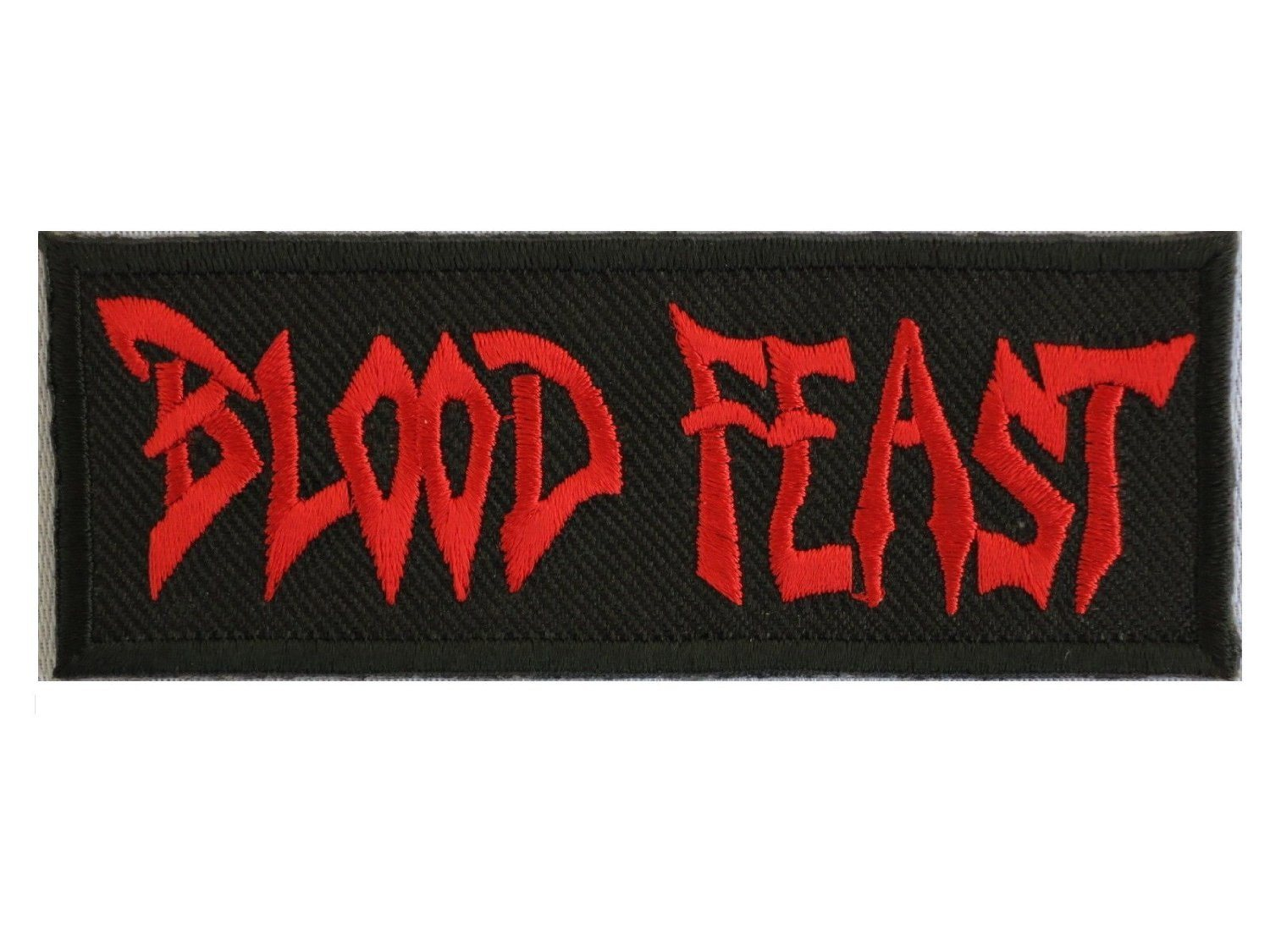 "BLOOD FEAST Thrash Metal Iron On Embroidered Patch 3.8""/9.6cm - A Patch E Store"