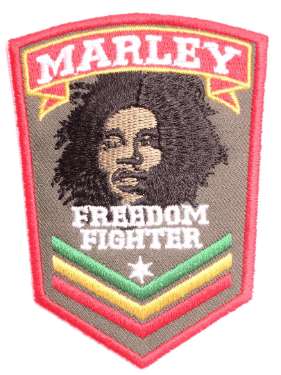 "BOB MARLEY Freedom Fighter Sgt Sew On Embroidered Patch  3.4""/8.5cm - A Patch E Store"
