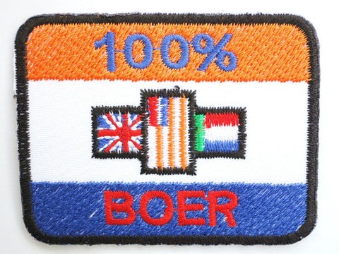 100% BOER SOUTH AFRICA Flag Africana Iron On Patch