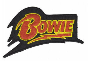 "David Bowie Logo Iron On Embroidered Patch 4""/10cm - A Patch E Store"