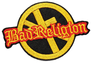 "Bad Religion Anti Cross Iron Sew On Embroidered Patch 3.5""/9cm - A Patch E Store"
