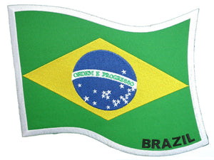 "Brazil Brazilian Flag Embroidered Big XL Vest Jacket Back Patch 9""/23cm - A Patch E Store"