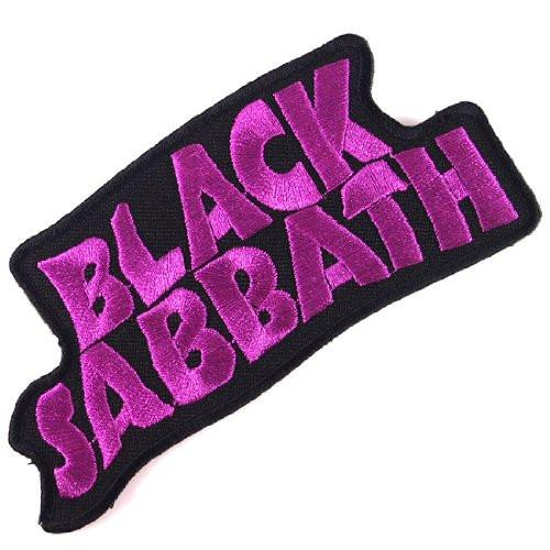 "BLACK SABBATH Purple Logo Iron On Embroidered Patch 4.5""/11.5cm"