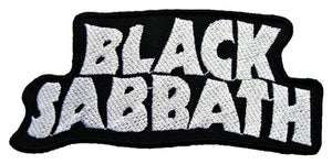 "BLACK SABBATH Silver Logo Iron On Embroidered Patch 4.5""/11.5cm - A Patch E Store"