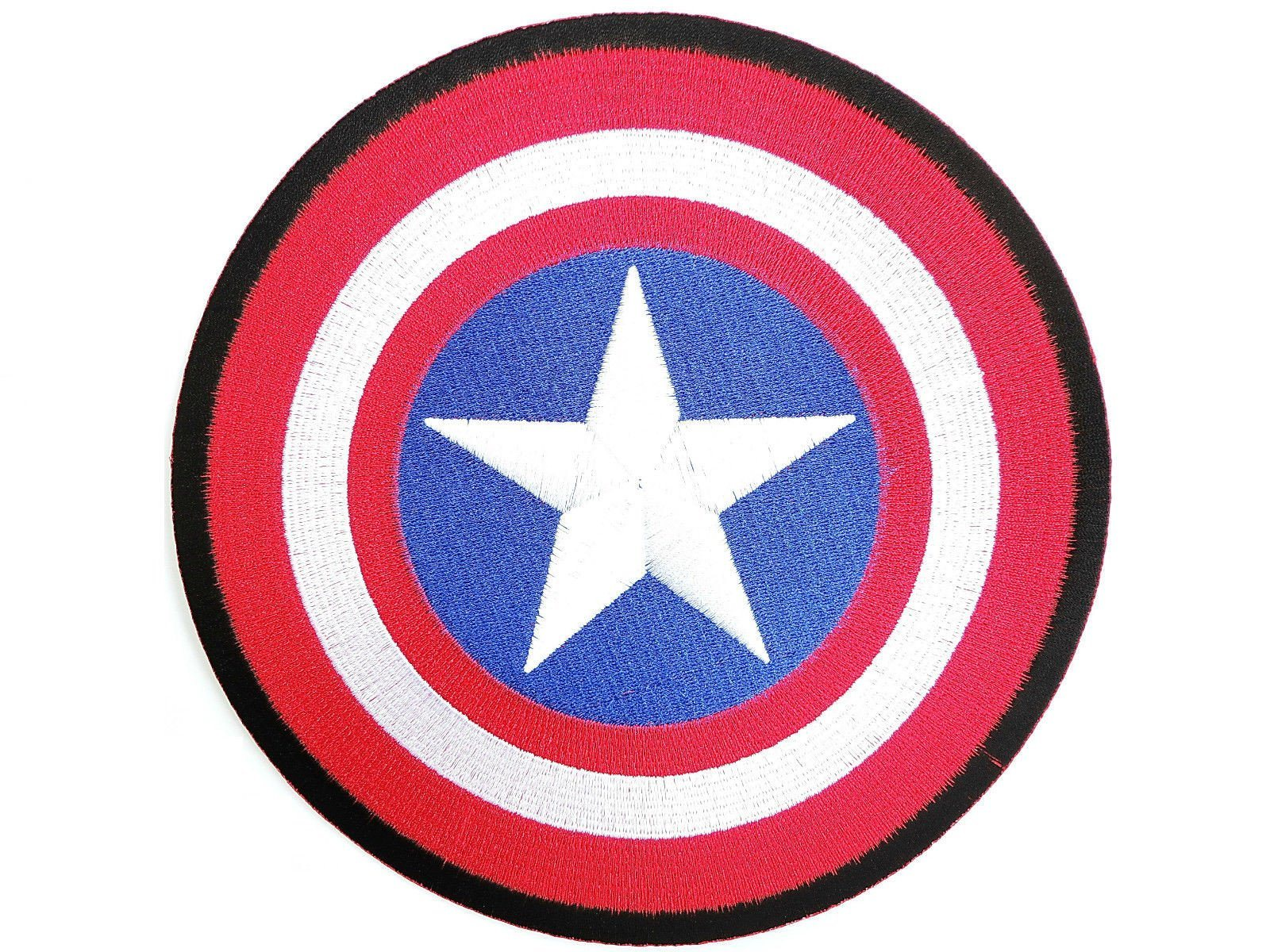 "CAPTAIN AMERICA Fancy Dress Big Embroidered Back Patch 8""/20.5cm - A Patch E Store"
