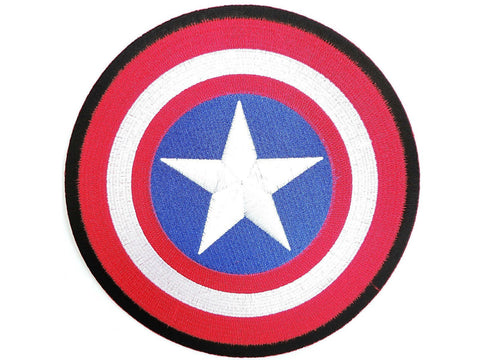 "CAPTAIN AMERICA Fancy Dress Big Embroidered Back Patch 8""/20.5cm"