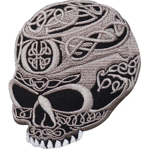 Celtic Tribal Sugar Skull Iron On Embroidered Patch - A Patch E Store