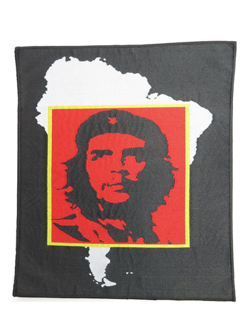 "Che Guevara Revolution Argentina Map Big Woven Back Patch 9.4""/24cm"