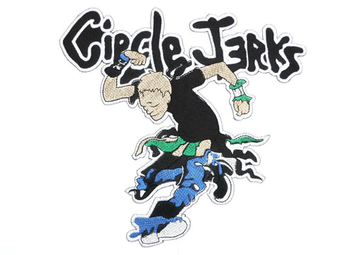"CIRCLE JERKS Mosher Punk Big Embroidered Back Patch 7""/19cm - A Patch E Store"