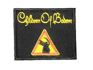 "CHILDREN OF BODOM Reaper Logo Iron On Embroidered Patch 2.9""/7.4cm - A Patch E Store"