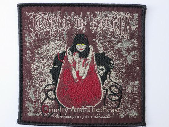 CRADLE OF FILTH Cruelty Sew On Woven Patch - A Patch E Store