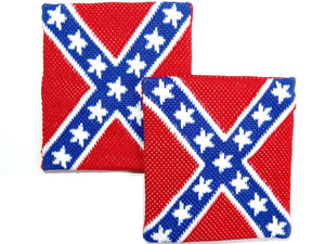 2x Rebel Flag Confederate Sweatbands Sweat Wrist Bands - A Patch E Store