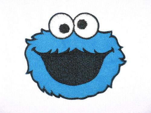"Cookie Monster Iron On Sew On Emroidered Patch 3.4""/8.5cm - A Patch E Store"