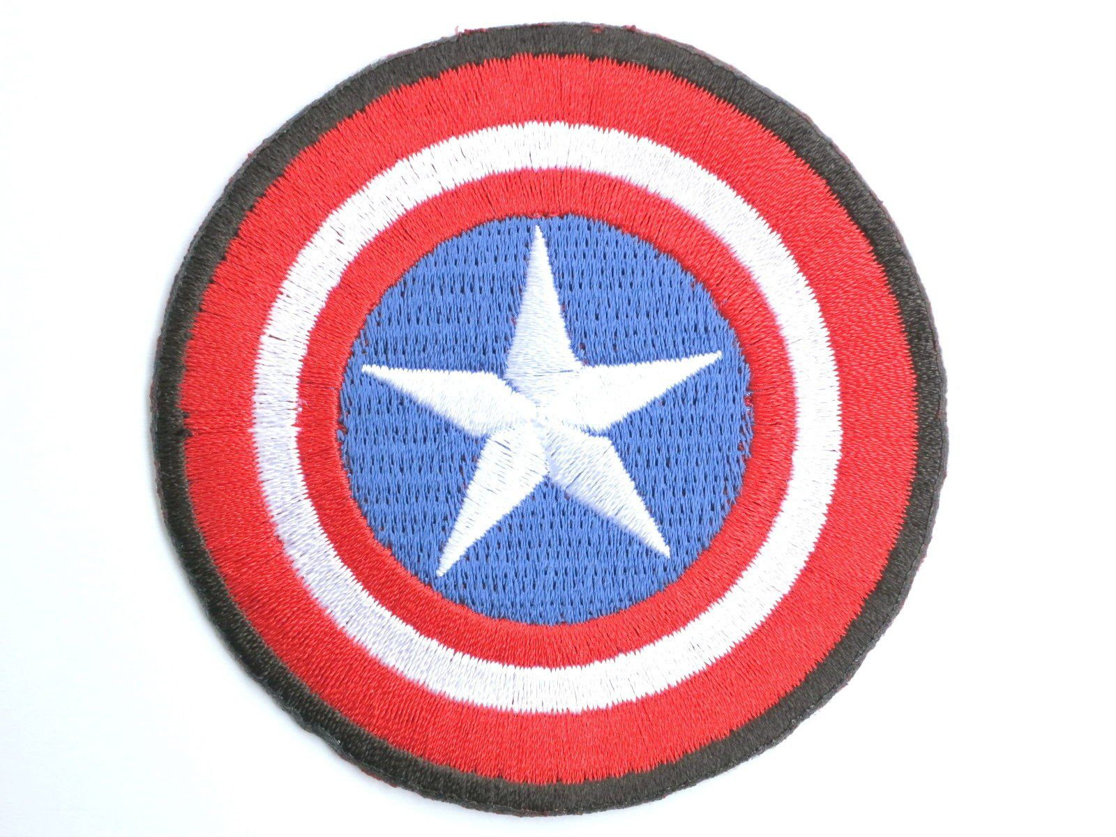 "Captain America Shield Iron On Embroidered Patch 2.7""/7cm - A Patch E Store"