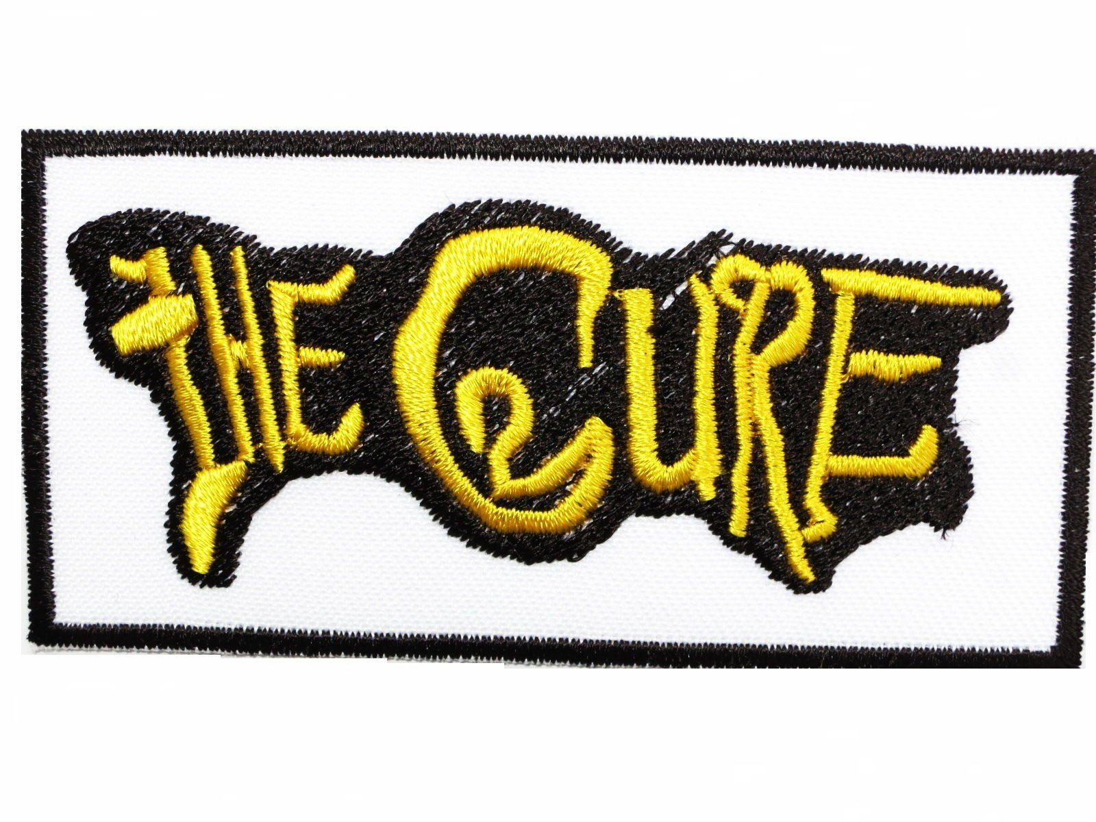 "THE CURE Logo Iron On Sew On Goth Embroidered Patch 3.4""8.7cm - A Patch E Store"