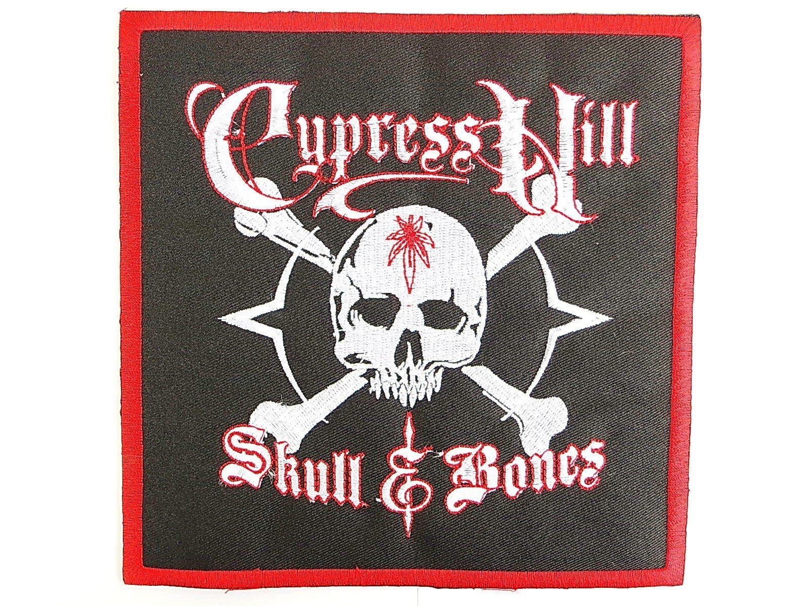 "CYPRESS HILL Skull & Bones Big Embroidered Back Patch 7.1""/18cm - A Patch E Store"