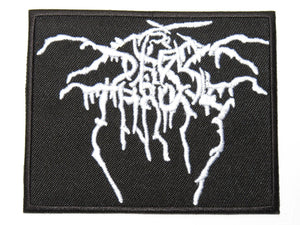 "DARK THRONE Darkthrone Black Metal Iron Sew On Embroidered Patch 3.4"" - A Patch E Store"