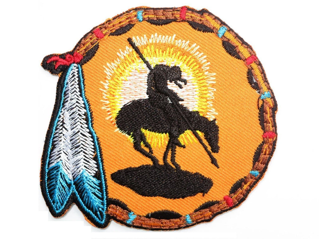 "DREAMCATCHER Horseman Embroidered Iron On Patch 3"" - A Patch E Store"