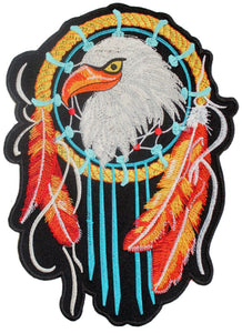 "DREAM CATCHER Eagle Feather Big Embroidered Back Patch 9.8""/25cm - A Patch E Store"