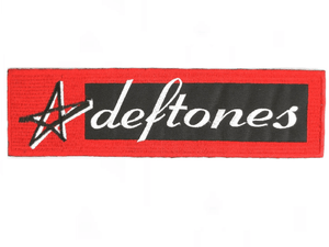 "DEFTONES Star Sew On Embroidered Strip Patch 5.9""/15cm - A Patch E Store"