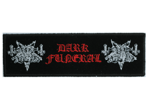"DARK FUNERAL Black Metal Sew On Embroidered Strip Patch 5""/12.8cm - A Patch E Store"