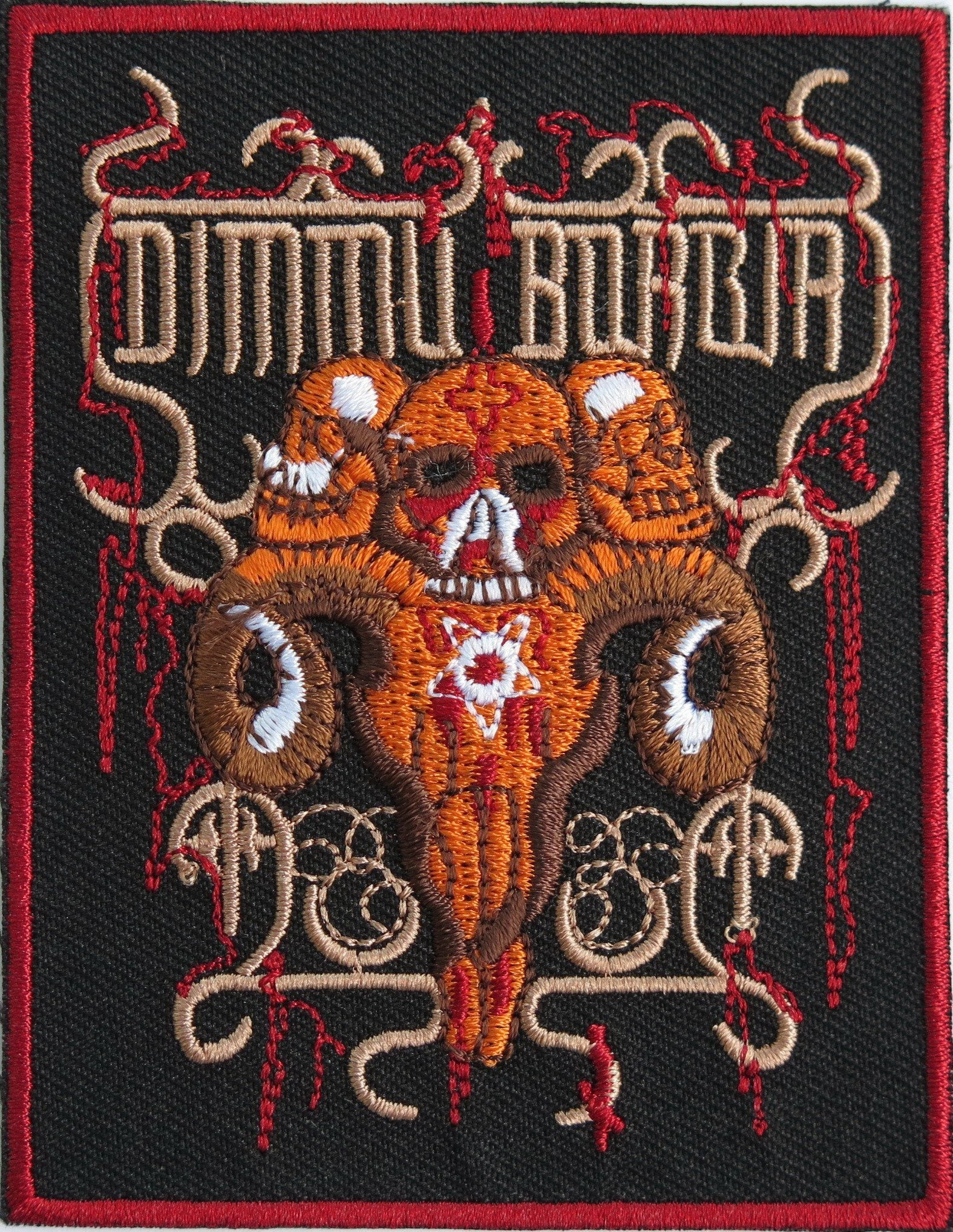 "DIMMU BORGIR Baphomet Skull Iron On Embroidered Patch 3.8""/9.8cm - A Patch E Store"