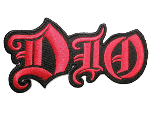 "DIO Cut Out Iron On Heavy Metal Embroidered Patch 4.2""/10cm - A Patch E Store"