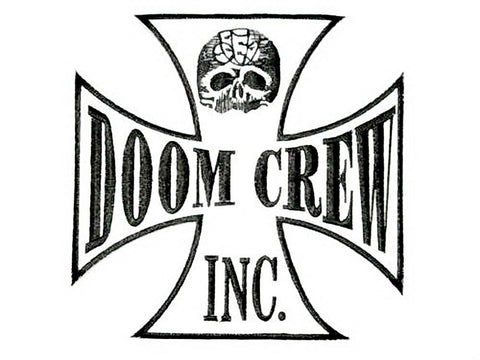 "BLS Doom Crew Metal Biker Big Embroidered Back Patch 7.2""/18.5cm - A Patch E Store"
