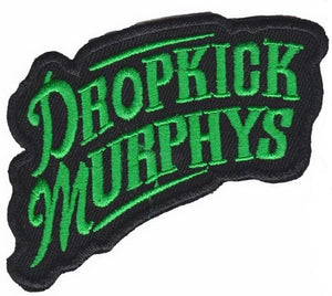 "DROPKICK MURPHYS Green Logo Iron On Embroidered Patch 3.5""/9cm - A Patch E Store"