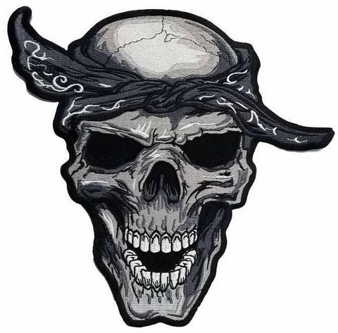"Durag Rockabilly Hip Hop Reaper Skull Big XL Back Patch 12.2""/31cm - A Patch E Store"