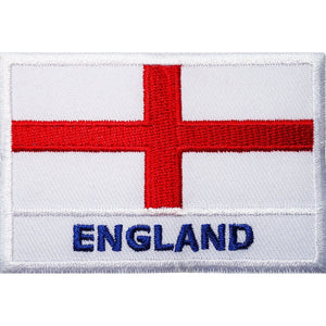 ENGLAND Cross St.George Flag UK Embroidered Iron On Patch - A Patch E Store