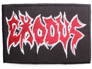 "EXODUS Thrash Metal Iron On Sew On Embroidered Patch 3.5""/9cm - A Patch E Store"