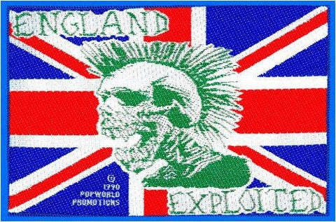 EXPLOITED England Flag Vintage Punk Sew On Woven Patch
