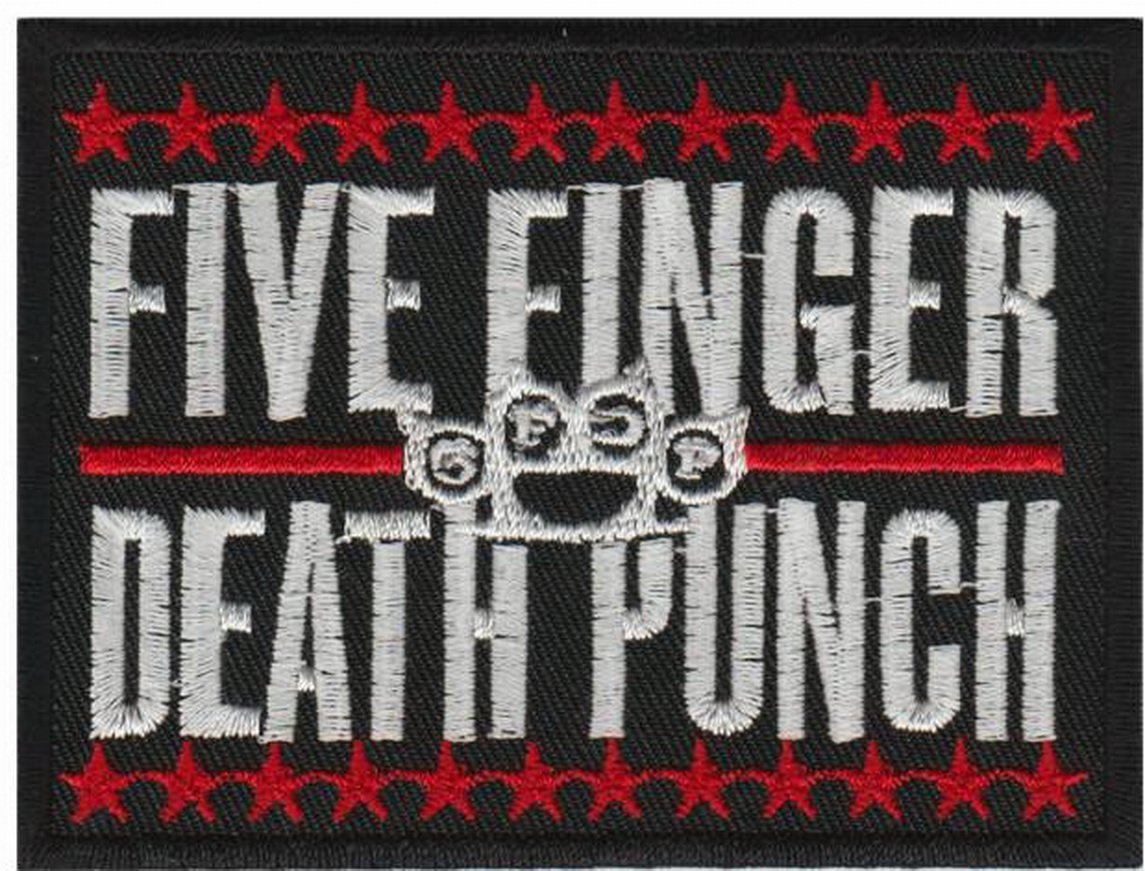 "Five Finger Death Punch Logo 5FDP Iron On Embroidered Patch 3.5""/9cm - A Patch E Store"