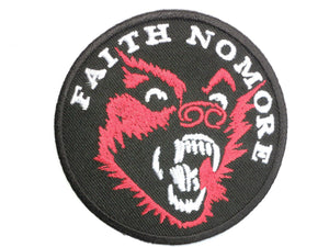 "FAITH NO MORE Wolf Iron On Embroidered Patch 2.9""/7.5cm - A Patch E Store"