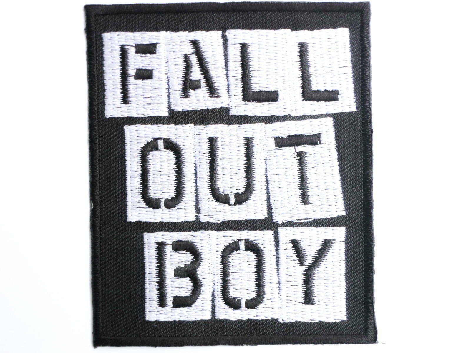 FALL OUT BOY  Iron On Sew On Embroidered Shirt Hat Patch - A Patch E Store