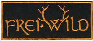 "Frei.Wild Gold Logo Iron On Sew On Embroidered Patch 4.6""/12cm - A Patch E Store"