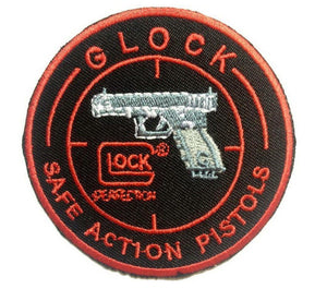"GLOCK Safe Gun Pistol Iron On Sew On Embroidered Patch 3""/7.5cm - A Patch E Store"
