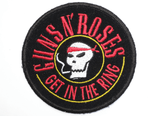 "GUNS N ROSES In The Ring Skull Sew On Embroidered Patch 3.1""/8cm - A Patch E Store"