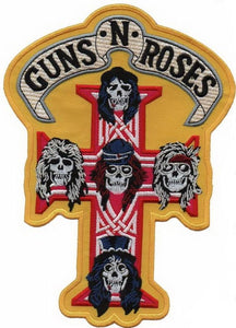 "GUNS N ROSES Crucifix Faces Big XL Back Patch 9""/23cm - A Patch E Store"