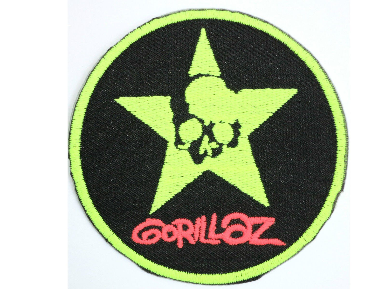 "GORILLAZ Skull Star Iron On Sew On Embroidered Patch 3""/7.6cm - A Patch E Store"