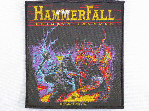 HAMMERFALL Crimson Thunder Woven Vintage Metal Patch