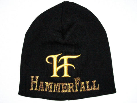 HAMMERFALL Golden HF Logo Winter Wool Beanie Hat BNWT - A Patch E Store