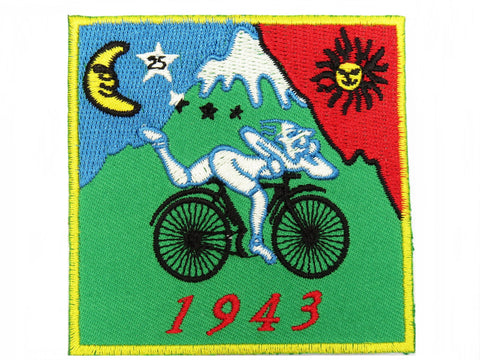 Albert Hofmann LSD 1943 Bicycle Day Iron On Sew On Embroidered Patch