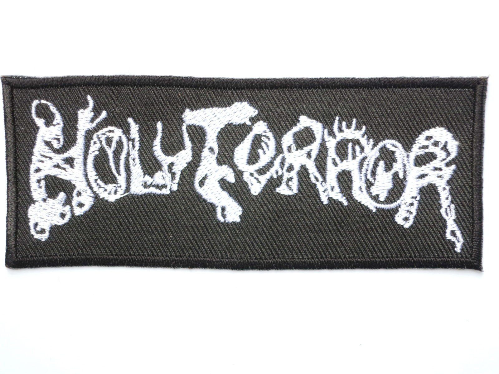 "HOLY TERROR Iron On Thrash Metal Embroidered Patch 4.1""/10.5cm - A Patch E Store"