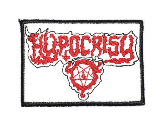 "HYPOCRISY Logo Iron On Sew On Embroidered Patch 3.2""/8.2cm - A Patch E Store"
