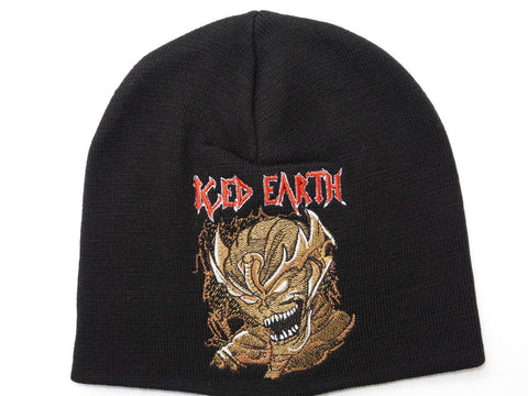 ICED EARTH Demon Winter Wool Beanie Hat BNWT - A Patch E Store